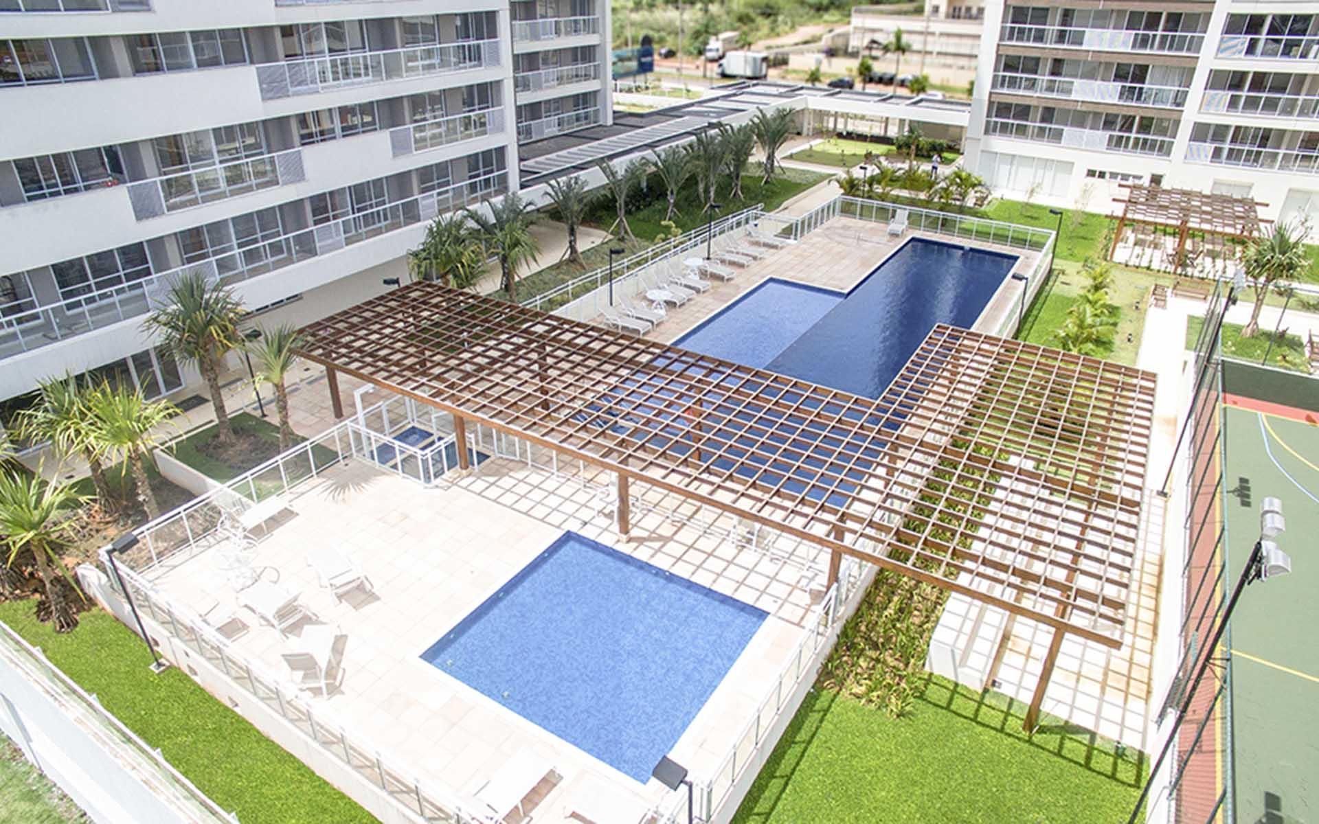 piscina do apart hotel flat em brasilia blend hplus long stay