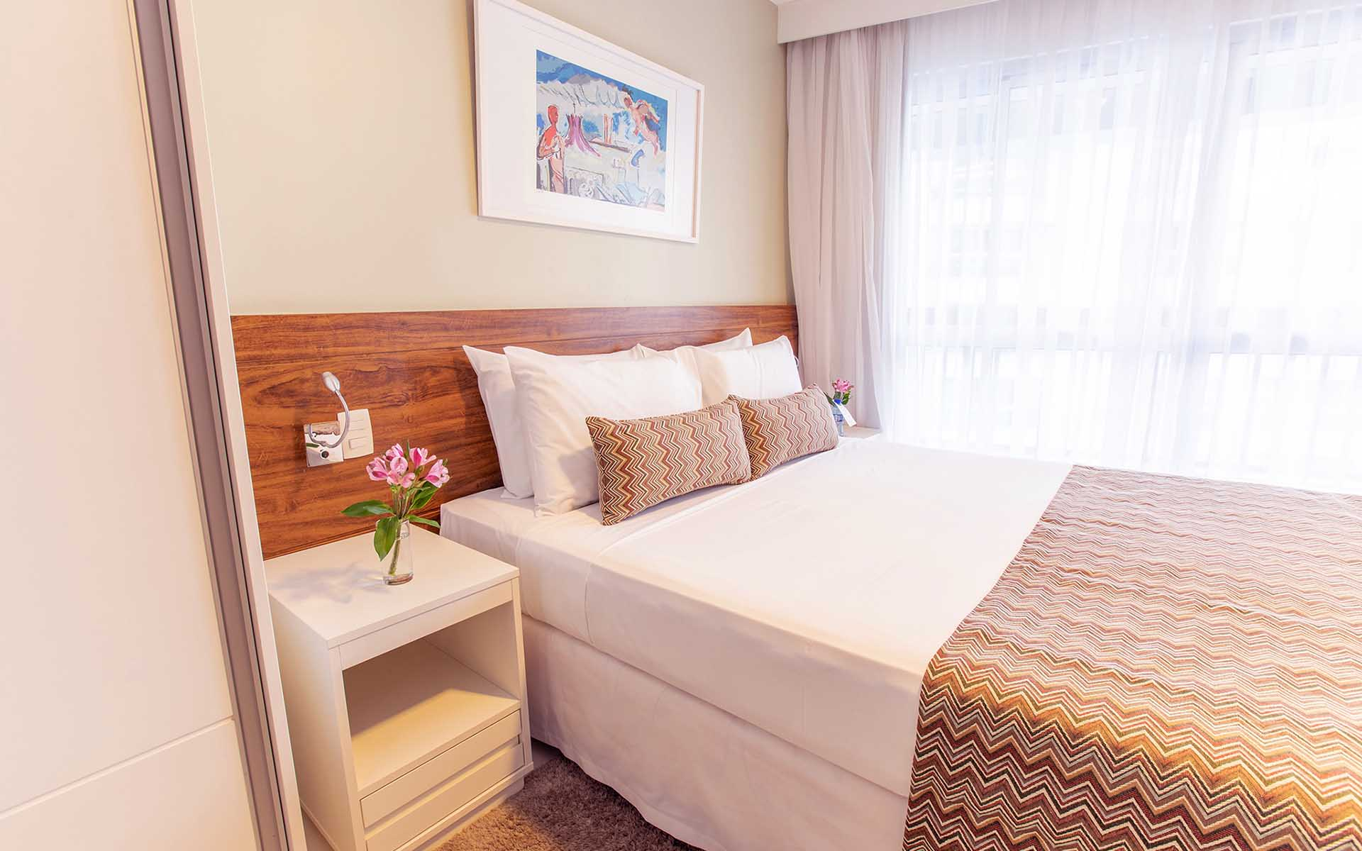 quarto de luxo do hotel fusion hplus em brasilia