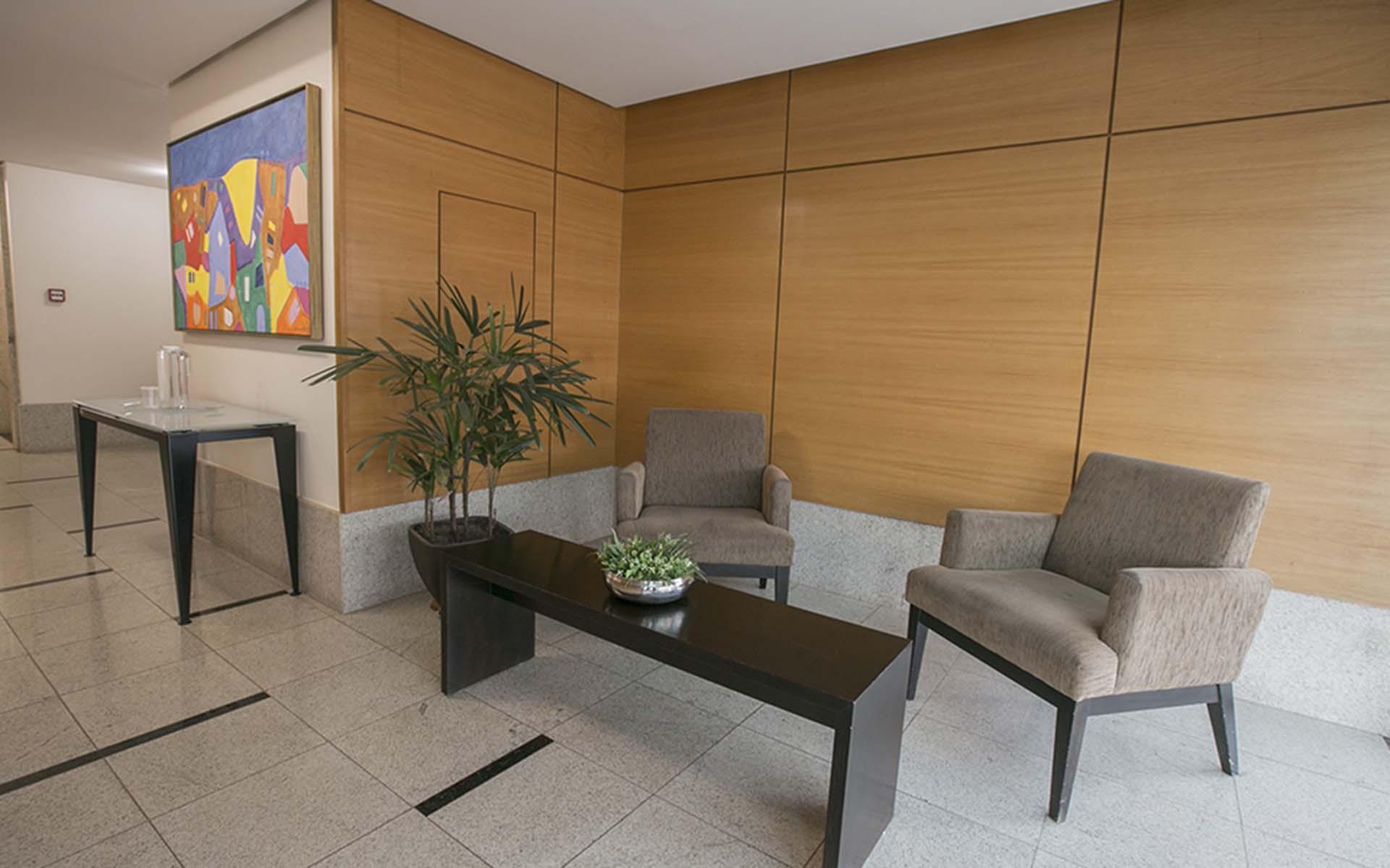 recepção do apart hotel flat em brasilia verona hplus long stay