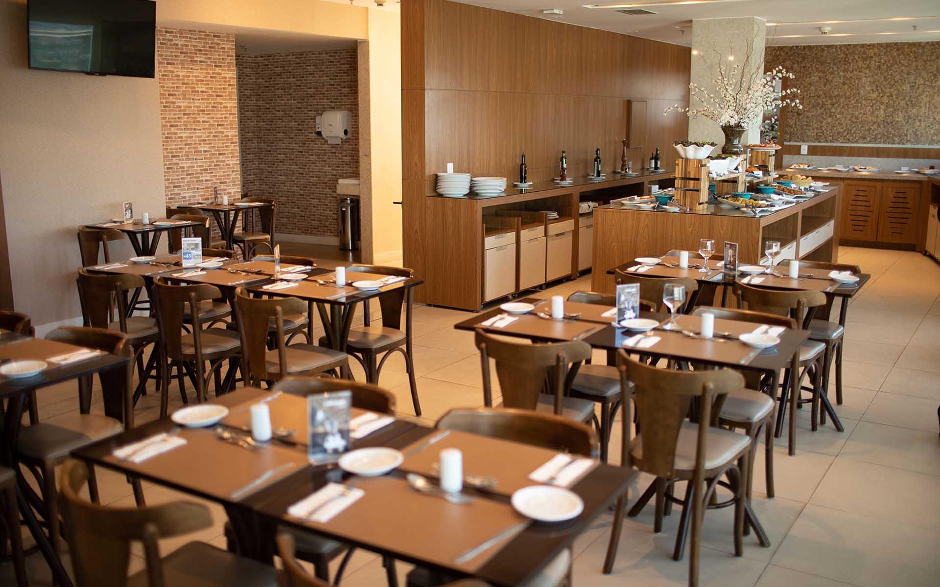 restaurante e café da manhã do hotel fusion hplus em brasilia