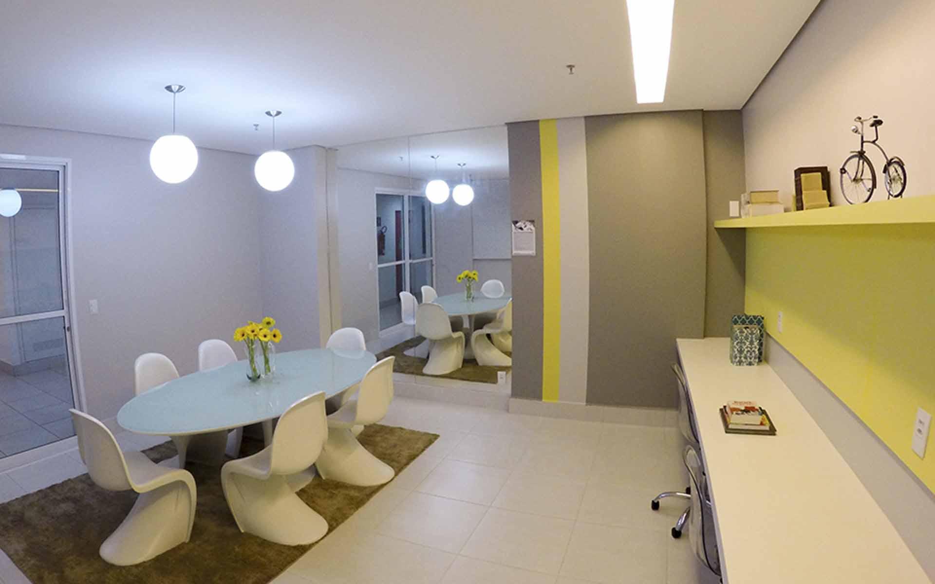 sala de estudos do apart hotel flat em brasilia spot hplus long stay