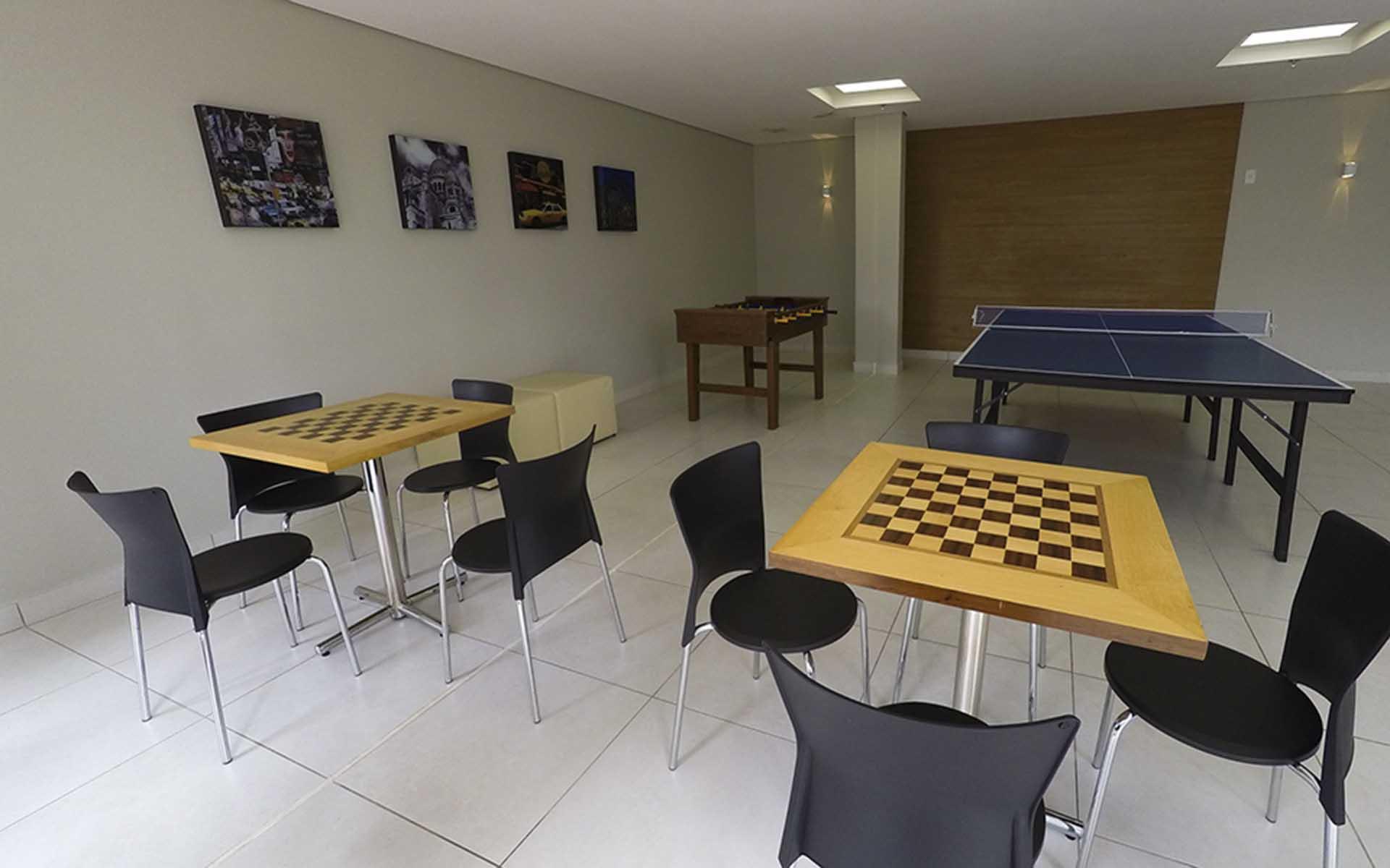 alão de jogos do apart hotel flat em brasilia blend hplus long stay