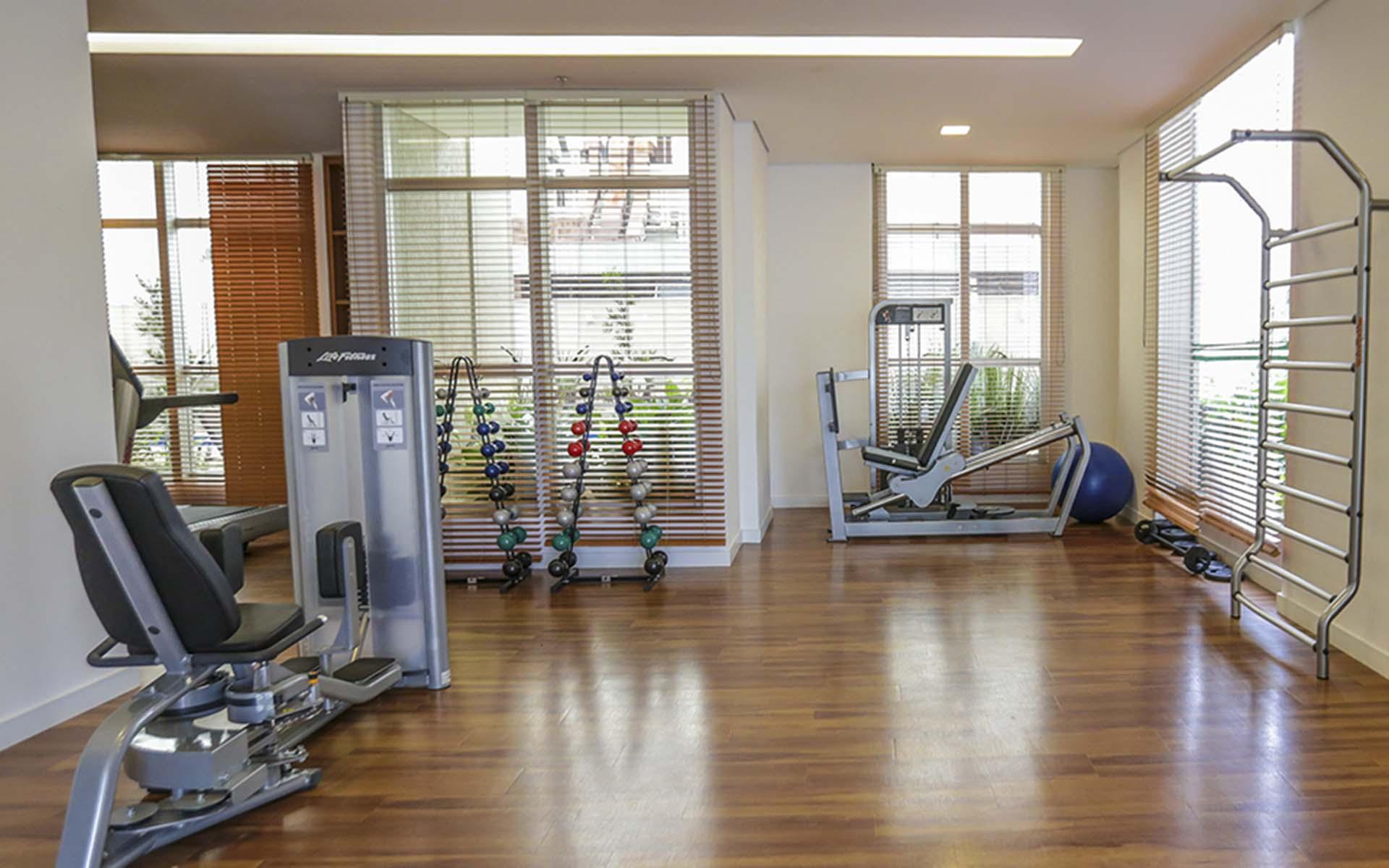 academia do apart hotel flat em brasilia vista park sul hplus long stay