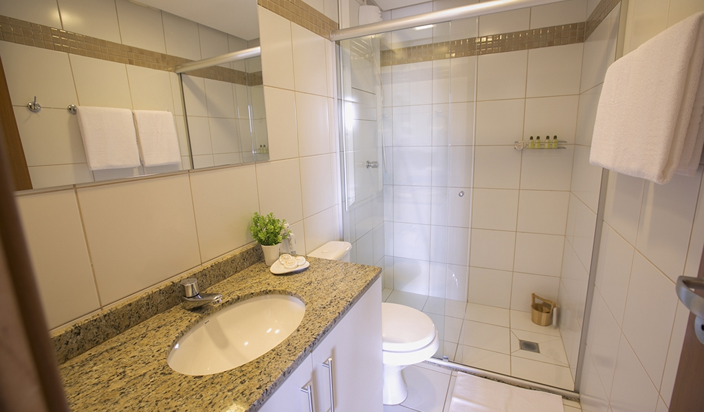 apartamento suite do flat em Brasília hplus Life Resort long stay