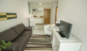 apartamento suite do flat em Brasília hplus Biarritz long stay