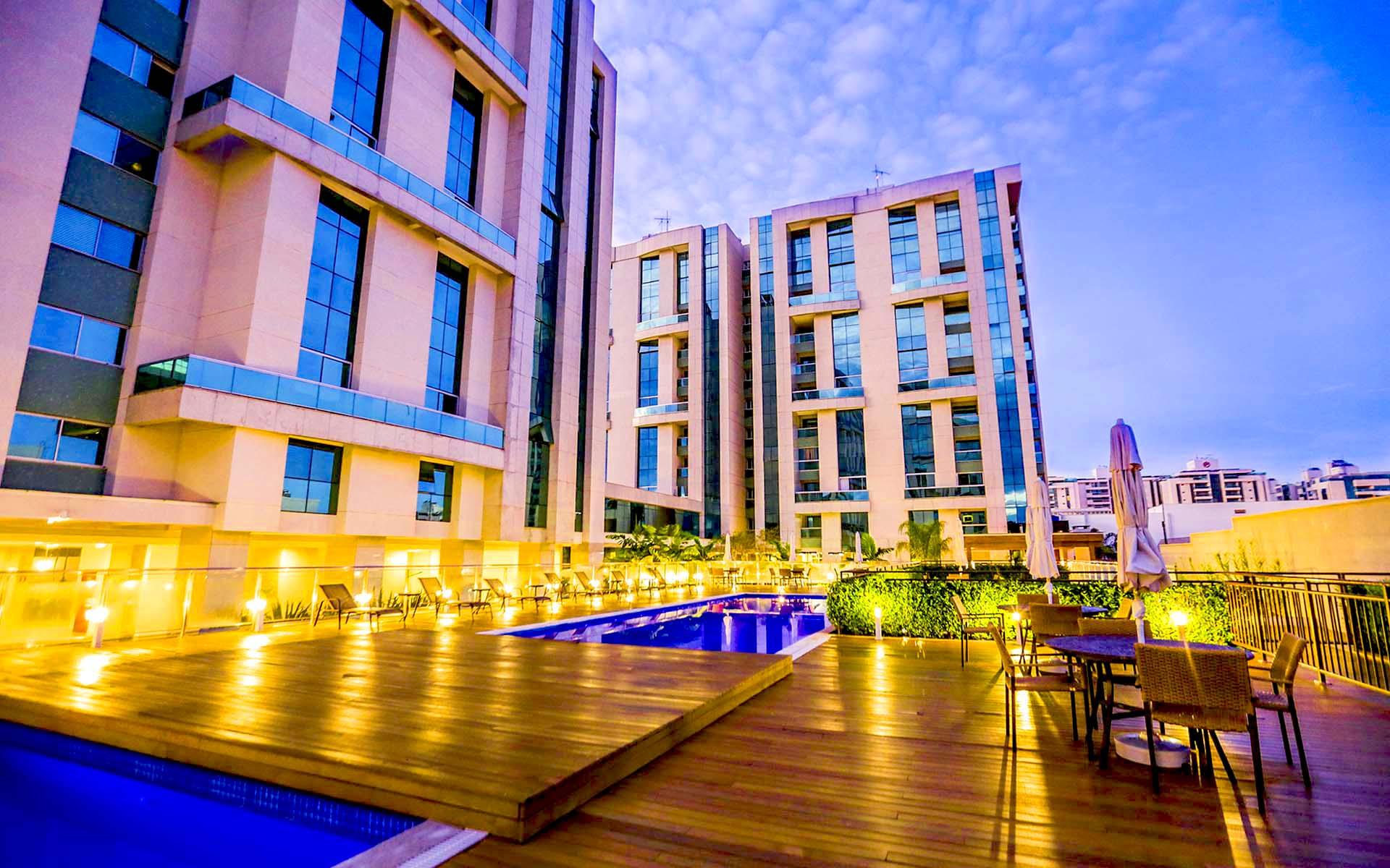 flat apart hotel em brasilia hplus vista park sul