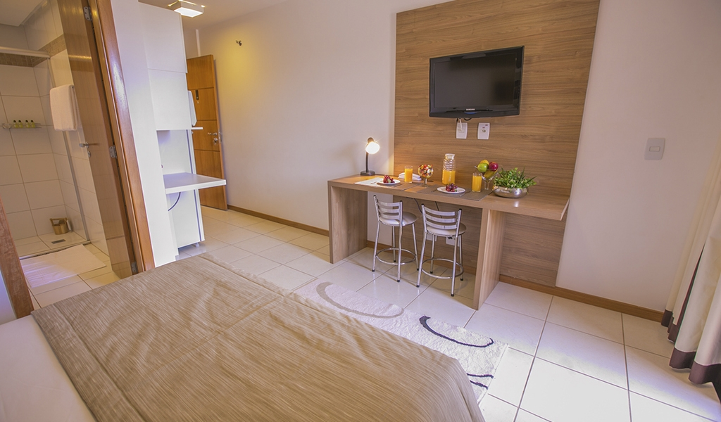 apartamento superior do flat em Brasília hplus Life Resort long stay
