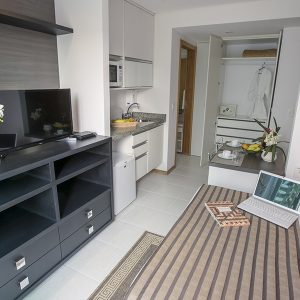 apartamento superior do flat em Brasília hplus Biarritz long stay