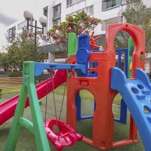 area de lazer do apart hotel flat em brasilia premier hplus long stay