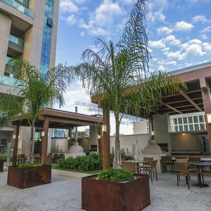 churrasqueira do apart hotel flat em brasilia vista park sul hplus long stay