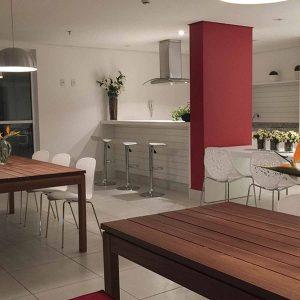 espeço gourmet do apart hotel flat em brasilia spot hplus long stay