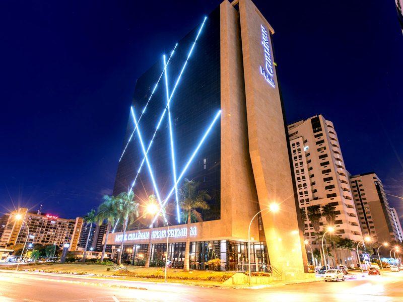 fachada do hotel cullinan hplus premium em brasilia