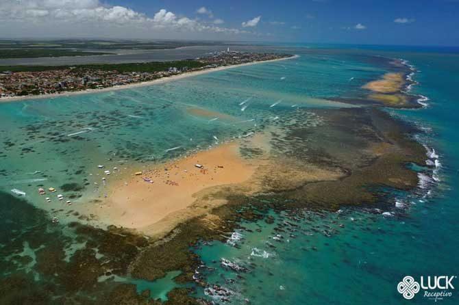 ilha de areia vermelha