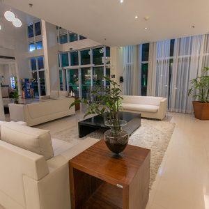 Lobby Recepção Hotel Saint Moritz em Brasília