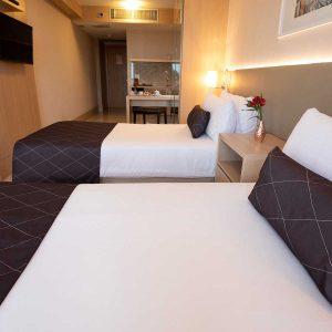 quarto superior solteiro hotel cullinan hplus em brasilia