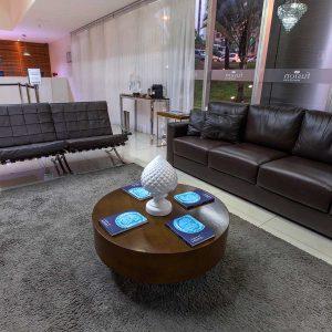 recepção do hotel fusion hplus em brasilia