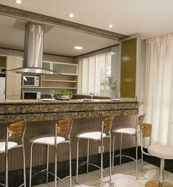 Salão de festas do apart hotel flat em brasilia premier hplus long stay