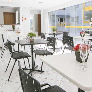 salão de festas do apart hotel flat em brasilia multiparque hplus long stay